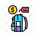 Backpack Tourist Rental Icon