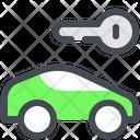 Car Key Rent Icon