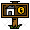 Rental house sign Icon