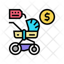 Stroller Rental Color Icon