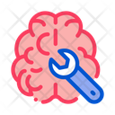 Brain Wrench Concept Icon