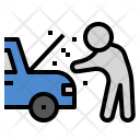 Broken Car Insurance Icon