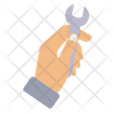 Spanner Wrench Hand Icon