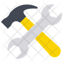 Repair Tools Hammer Spanner Icon