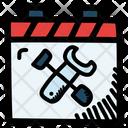 Repair Tools Calendar Date Icon