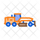 Road Repair Tractor Icon