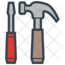 Tools Hammer Screwdriver Icon