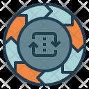 Circulation Chart Wheel Icon