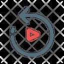 Replay Arrow Play Icon