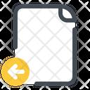 Left File Document Icon