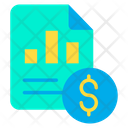 Finance Report Business Icon