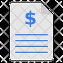 File Receipt Document Icon