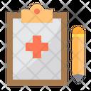 Clipboard Pen Heartrate Report Icon