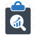 Magnifying Glass Report Growth Icon