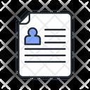 Report Cv Employee Report Icon