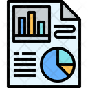 Report Paper Report Analysis Icon