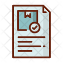 Report Delivery Report Delivery Dcument Icon