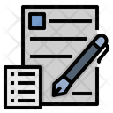 Paperwork Document Writing Icon