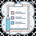 Data Report Task Report Tasklist Todo List Icon