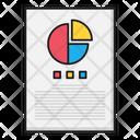 Report Sheet Graph Icon
