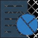 Report Graph File Document Icon