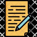 Report Pencil Paper Icon