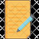Report Paper Pencil Icon