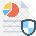 Report Graph Shield Icon