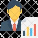 Report Graph Businessman Icon