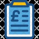 Finance Report Clipboard Icon