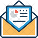 Pie Report Envelope Icon