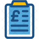 Finance Report Clipboard Icon