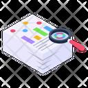 Descriptive Data Report Analysis Document Analysis Icon
