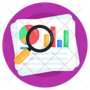 Data Analysis Report Analysis Business Search Icon