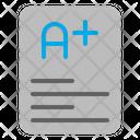 Report Card Education Grade Icon