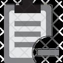 Report Data Minus Remove Report Remove Data Icon