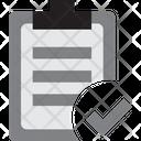 Report Data Tick Verified Report Verified Data Icon