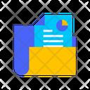 Report Folder Folder Chart Icon