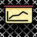 Business Report Presentation Statistics Graph Icon