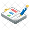 Report Writing Record Business Report Icon
