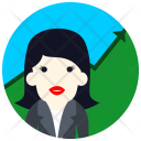 Reporter Woman Avatar Icon