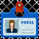 Reporter Identification Woman Icon