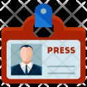 Reporter Identification Man Icon