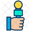 Journalist Mic Microphone Icon