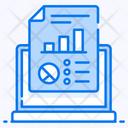 Reporting Online Online Data Data Analytics Icon