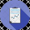Reports Graph Paper Icon