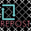 Repost Share Social Icon