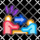 Reprimand Man Bullying Icon