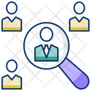 Requirement Find Person Find Job Icon
