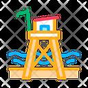 Rescue Beach Tower Icon